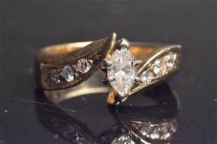 14K Yellow Gold Bridal Ring