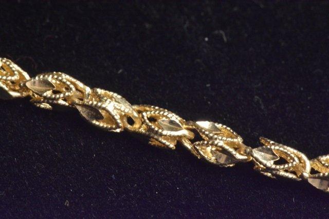 14K Yellow Gold Diamond Cut Butterfly on Chain - 4