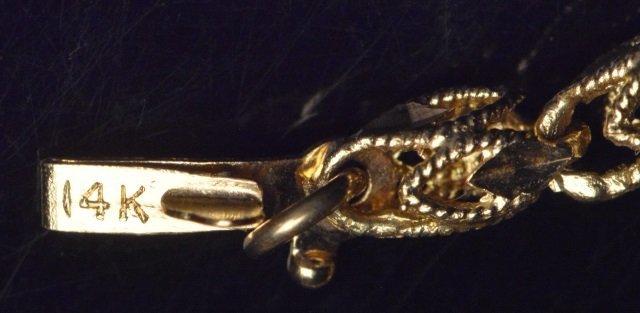 14K Yellow Gold Diamond Cut Butterfly on Chain - 5