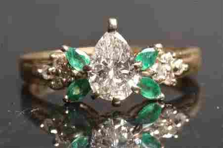 14K Yellow Gold Engagement Ring