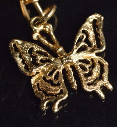 14K Yellow Gold Charm Necklace - 7