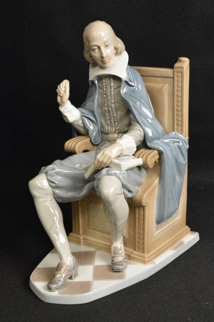 Lladro Shakespeare Figurine Signed & Numbered 535