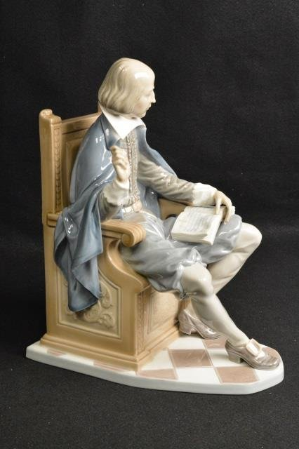 Lladro Shakespeare Figurine Signed & Numbered 535 - 2