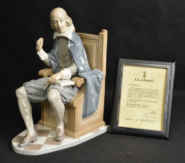 Lladro Shakespeare Figurine Signed & Numbered 535 - 5