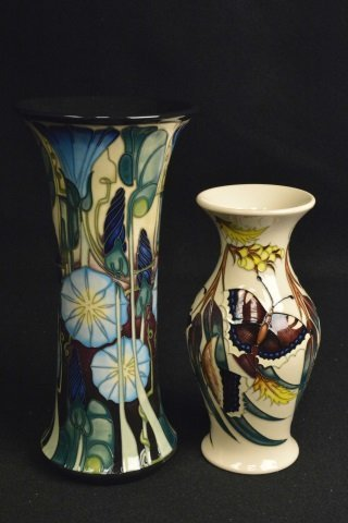 (2) Moorcroft Vases Made in England