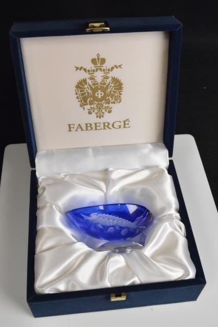 Blue Faberge Imperial Easter Egg Signed, 280/999