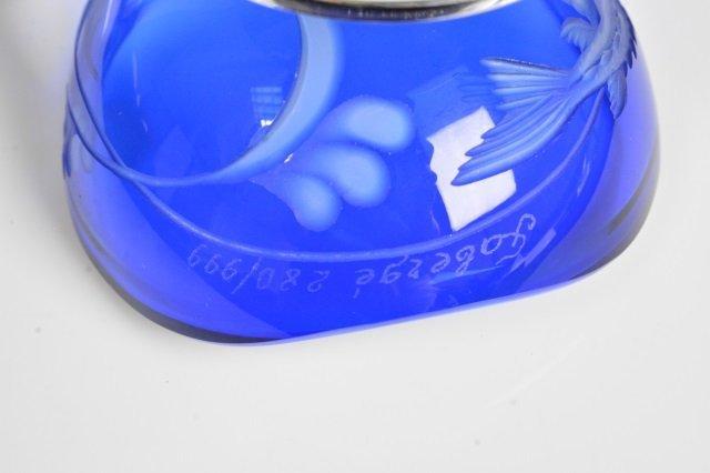Blue Faberge Imperial Easter Egg Signed, 280/999 - 4