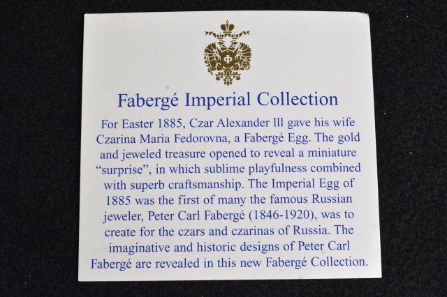 Blue Faberge Imperial Easter Egg Signed, 280/999 - 5