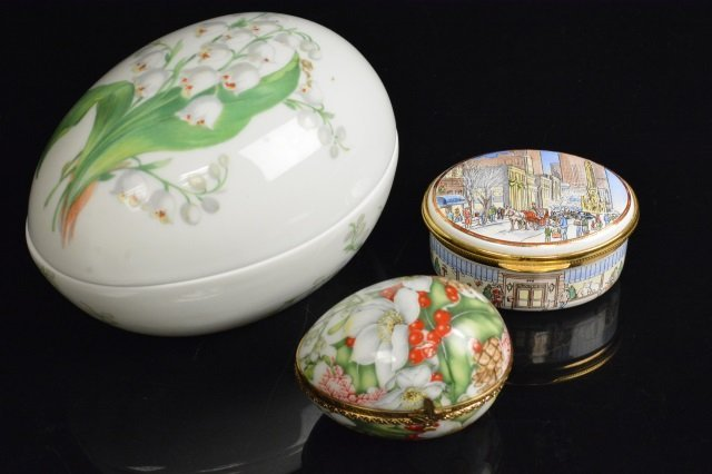 Limoges France & Mary M. Laughlin Porcelain Eggs
