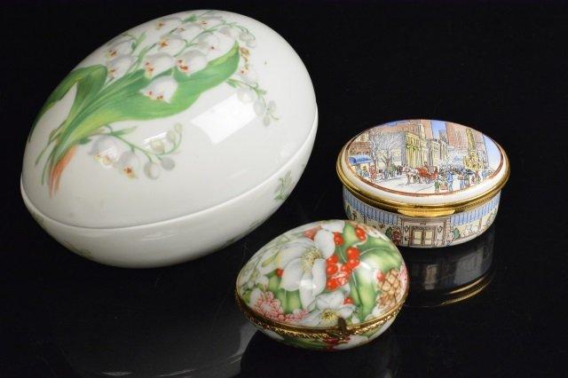Limoges France & Mary M. Laughlin Porcelain Eggs