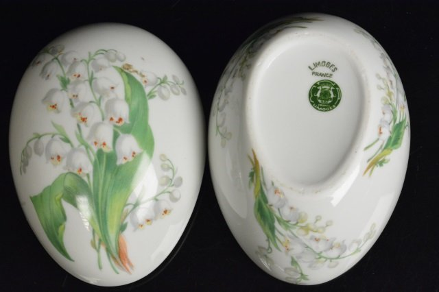 Limoges France & Mary M. Laughlin Porcelain Eggs - 5