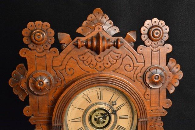 Gingerbread Wm. L. Gilbert Clock Co. Mantel Clock - 2