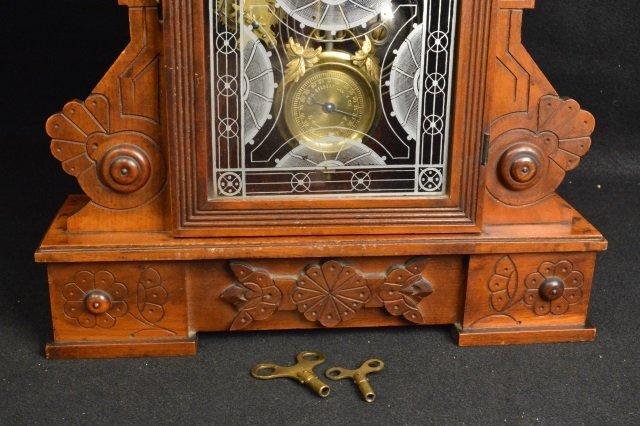 Gingerbread Wm. L. Gilbert Clock Co. Mantel Clock - 3