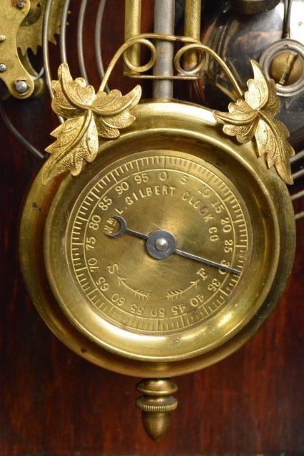 Gingerbread Wm. L. Gilbert Clock Co. Mantel Clock - 4