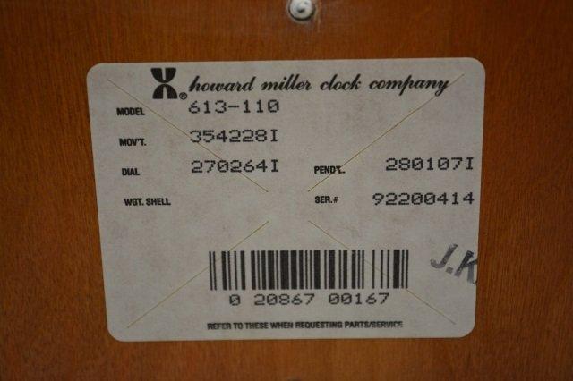 Howard Miller Clock Co. Model 613-110 Chime Clock - 4