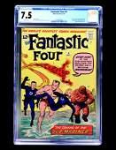 Fantastic Four #4 (Marvel Comics, 1962) CGC 7.5