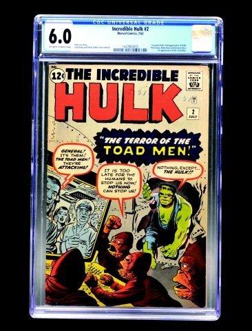 Incredible Hulk #2 (Marvel Comics, 1962) CGC 6.0