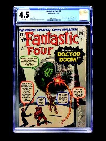 Fantastic Four #5 (Marvel Comics, 1962) CGC 4.5
