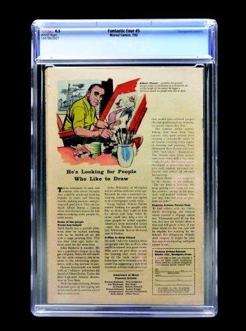 Fantastic Four #5 (Marvel Comics, 1962) CGC 4.5 - 2