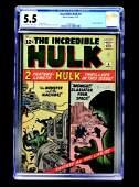 Incredible Hulk #4 (Marvel Comics, 1962) CGC 5.5