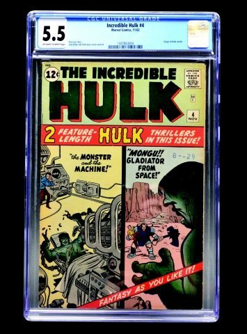 Incredible Hulk #4 (Marvel Comics, 1962) CGC 5.5