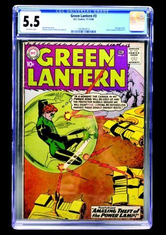 Green Lantern #3 (D.C. Comics, 1960) CGC 5.5