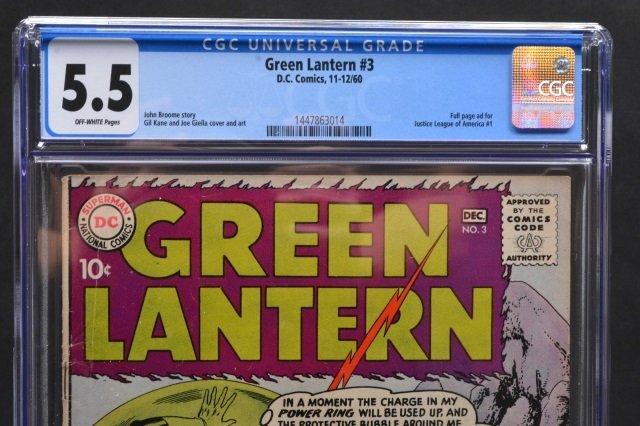 Green Lantern #3 (D.C. Comics, 1960) CGC 5.5 - 3