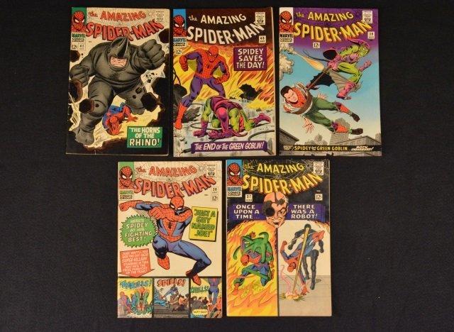 (5) Amazing Spider-Man No. 37-41 Marvel Comics