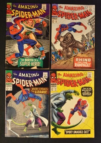 (4) Amazing Spider-Man No. 42-45 Marvel Comics