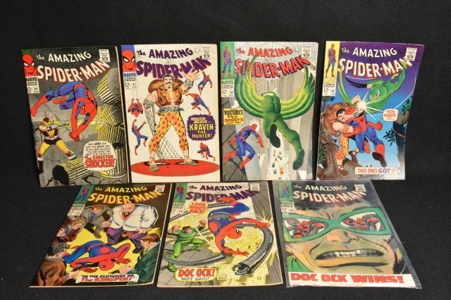 (7) Amazing Spider-Man Marvel Comics Silver Age