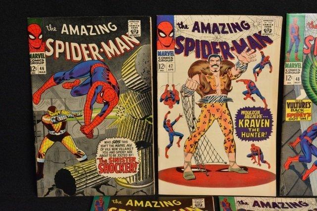 (7) Amazing Spider-Man Marvel Comics Silver Age - 2