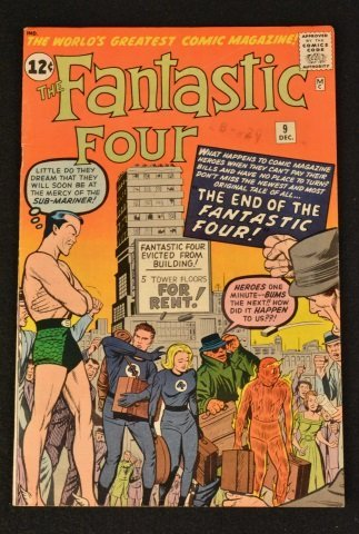 Fantastic Four No. 9 Marvel Comics Silver Age