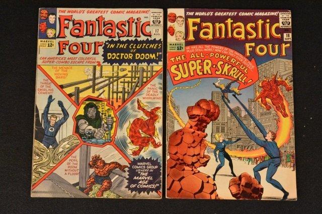 (2) Fantastic Four Marvel Comics No. 17 & 18