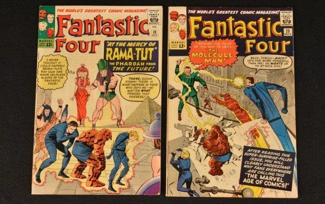 (2) Fantastic Four Marvel Comics No. 19 & 20