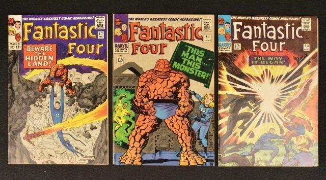 (3) Fantastic Four Marvel Comics Silver Age