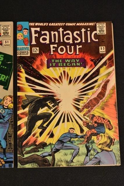 (3) Fantastic Four Marvel Comics Silver Age - 4