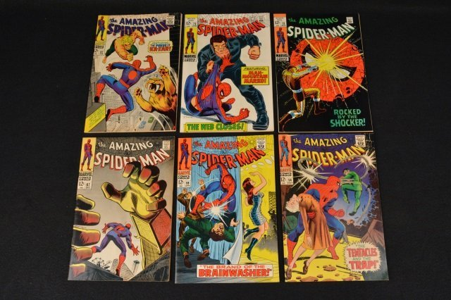 (6) Amazing Spider-Man Marvel Comics Silver Age
