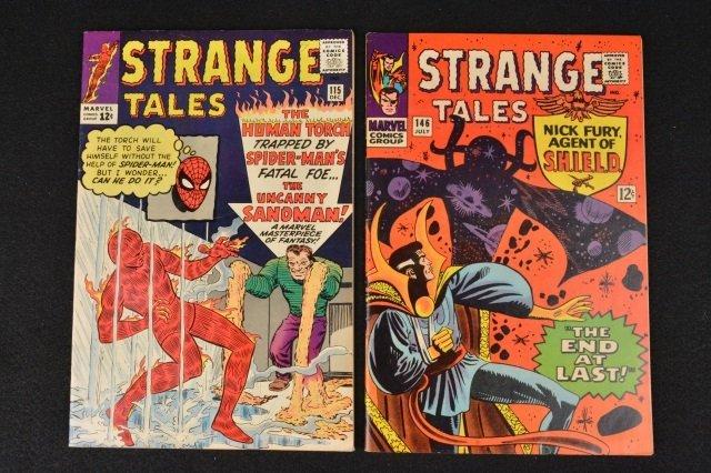 (2) Strange Tales Marvel Comics Silver Age