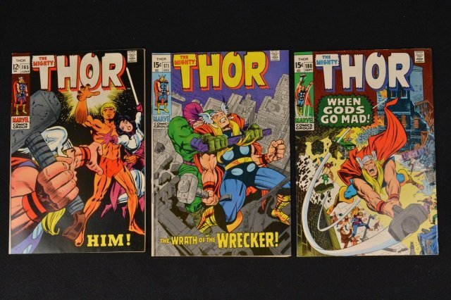 (3) Thor Marvel Comics No. 165, 171 & 180