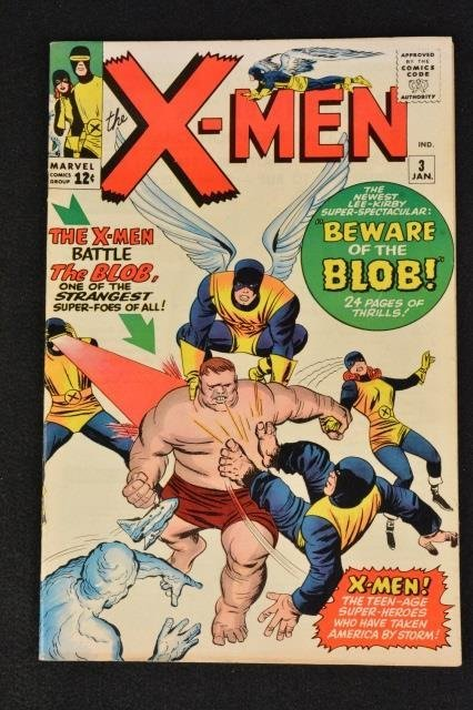 Uncanny X-Men No.3 Marvel Comics (1st Blob)