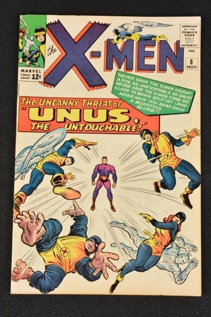 Uncanny X-Men No. 8 Marvel Comics Silver Age