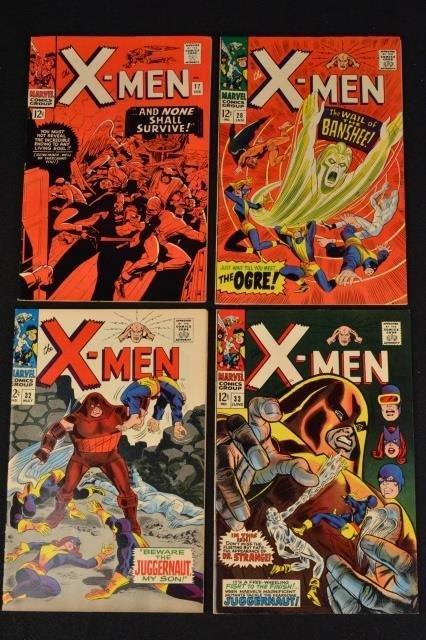 (4) X-Men Uncanny Marvel Comics Silver Age