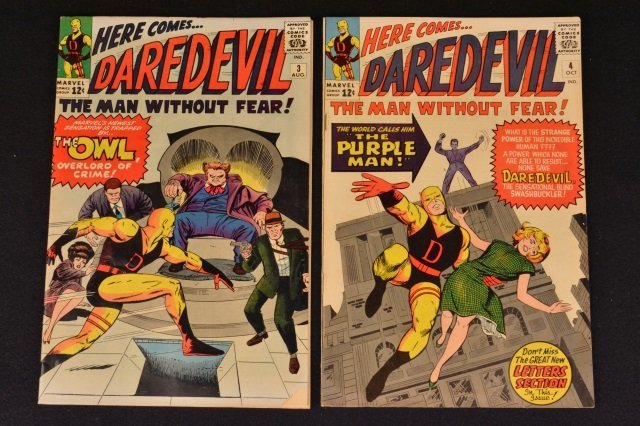 Daredevil No. 3 & No. 4 Marvel Comics Silver Age