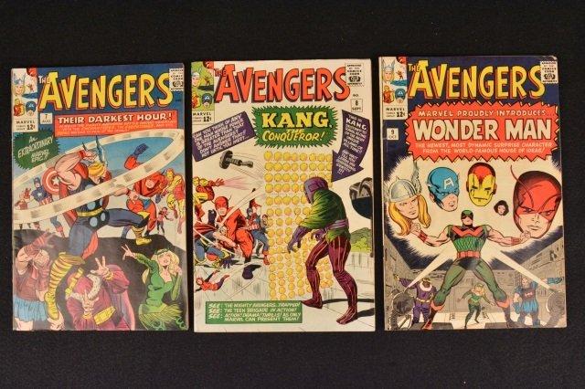(3) Avengers Marvel Comics Silver Age No. 7, 8, 9