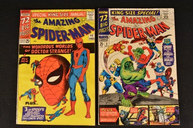 (2) Amazing Spider-Man Marvel Comics Silver Age