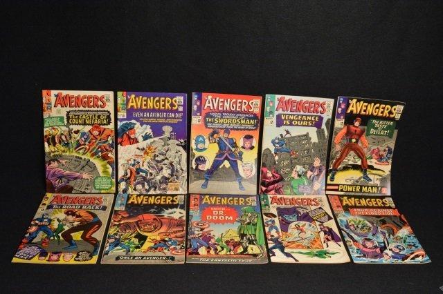 (10) Avengers Marvel Comics Silver Age