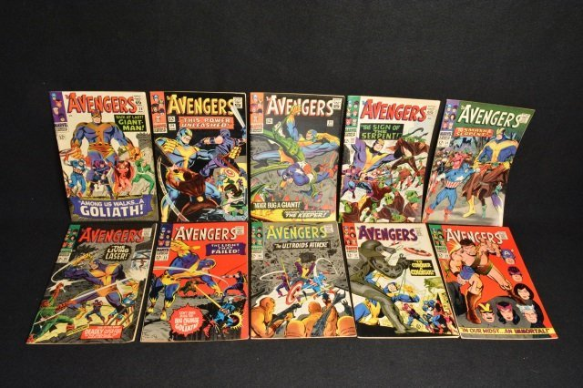(10) Avengers Marvel Comics Silver Age