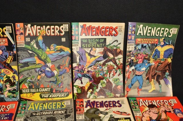 (10) Avengers Marvel Comics Silver Age - 3
