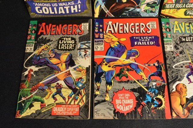 (10) Avengers Marvel Comics Silver Age - 4