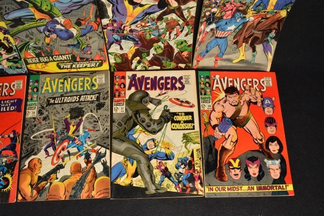 (10) Avengers Marvel Comics Silver Age - 5